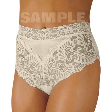 Wearever Reusable Women's Lovely Lace Trim Incontinence Panty Ivory - 1 ea