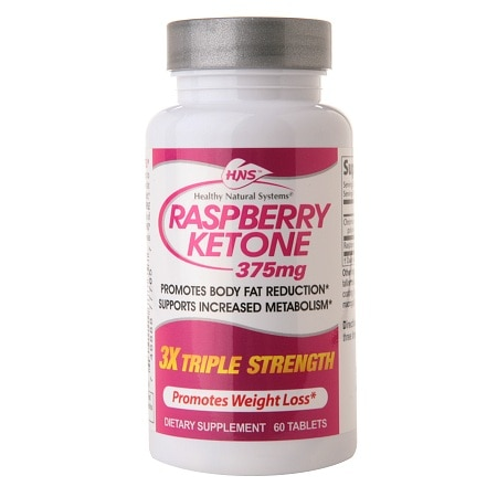 Healthy Natural Systems Raspberry Ketone 375mg, Tablets - 60 ea
