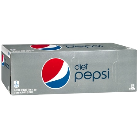 Diet Pepsi Soda 12 oz Cans, 12 pk