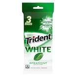 Trident White Sugar Free Gum Spearmint