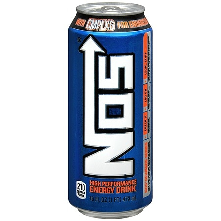 Nos High Performance Energy Drink 16 oz Can
