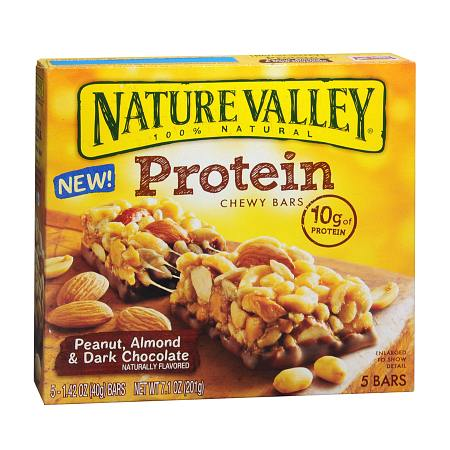 Nature Valley Protein Chewy Bars Peanut Almond & Dark Chocolate, 5 pk