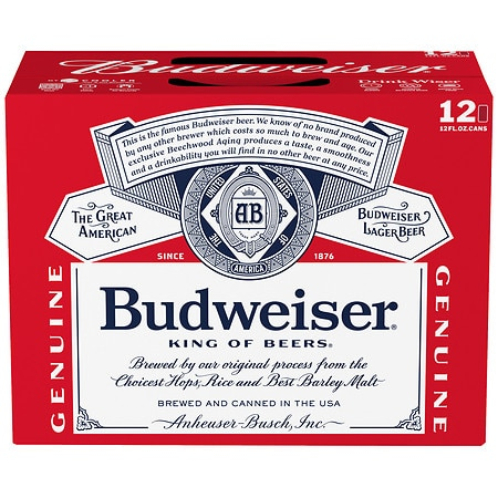 Budweiser Beer - 12 oz. x 12 pack