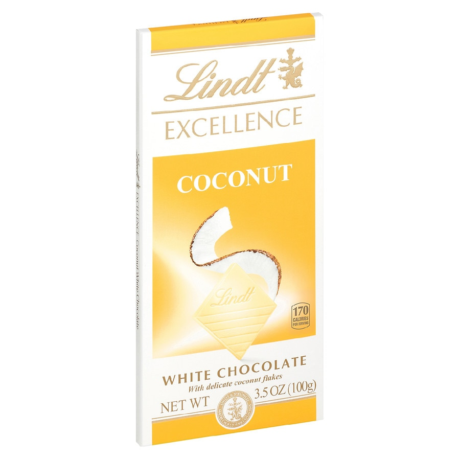 Lindt Excellence White Chocolate Bar White Coconut | Walgreens