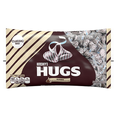 Hershey's Hugs Candy Milk Chocolate with White Creme