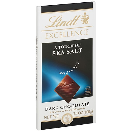 Lindt Excellence Dark Chocolate Bar A Touch of Sea Salt