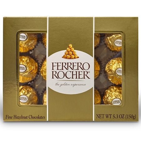 2-Pack Ferrero Rocher Fine Hazelnut Chocolates 5.3oz