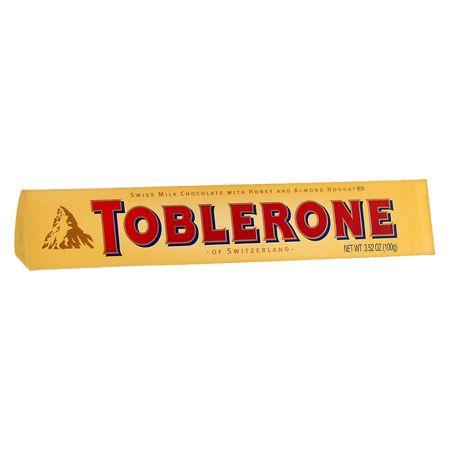 Toblerone Swiss Milk Chocolate Honey And Almond Nougat 35 Oz