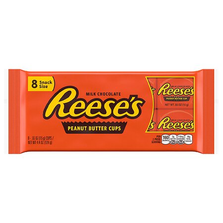 Reese's Peanut Butter Cups Milk Chocolate,8 pk