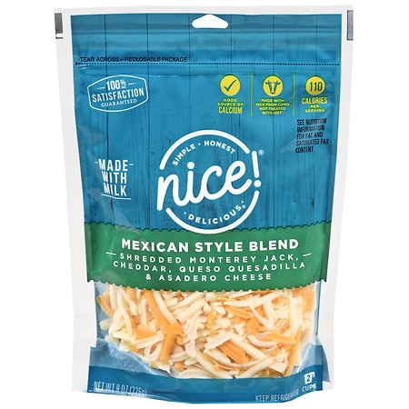 Nice! Natural Shredded Cheese Mexican Style