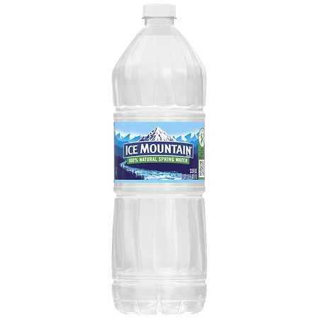 Ice Mountain 100% Natural Spring Water - 33.8 oz.