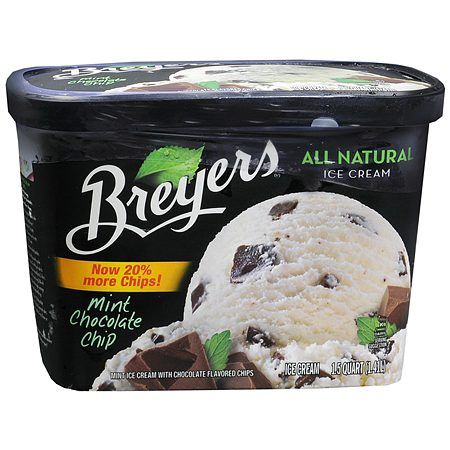 Breyers All Natural Ice Cream Mint Chocolate Chip - 48 oz.