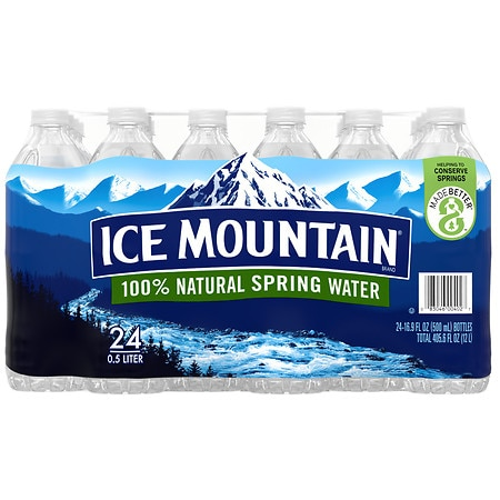 Ice Mountain 100% Natural Spring Water 24 pk