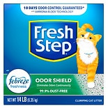 Fresh Step Odor Shield Scoopable Cat Litter Febreze Freshness