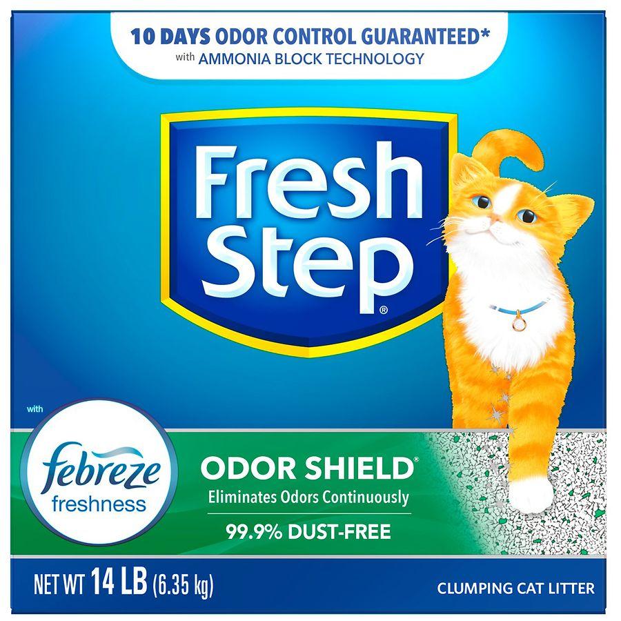 4c93e442e9b68 Fresh Step Odor Shield Scoopable Cat Litter Febreze Freshness224.0 oz