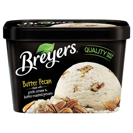 Breyers All Natural Ice Cream Butter Pecan - 48 oz.