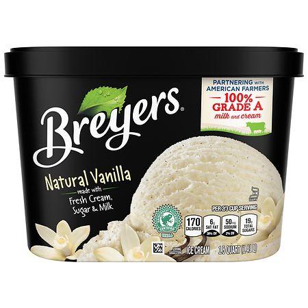 Breyers All Natural Ice Cream Vanilla - 48 oz.
