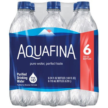 Aquafina Drinking Water - 24 oz. x 6 pack