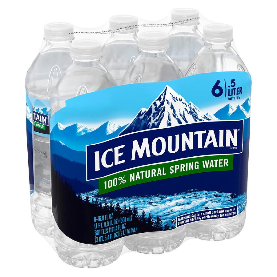 b9b1d39e15 Ice Mountain 100% Natural Spring Water 6 Pack | Walgreens