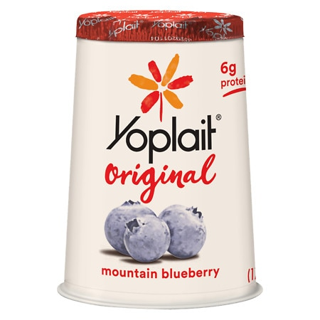 Yoplait Original Low Fat Yogurt Mountain Blueberry - 6 oz.