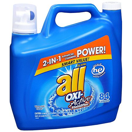 All 2X Ultra Oxi-Active Stainlifters Laundry Detergent Liquid - 150 oz.