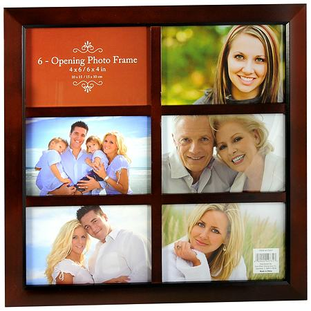 walgreens 6 opening photo frame 4 x 6 inch brown