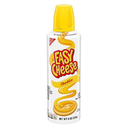 Kraft Easy Cheese Pasteurized Cheese Snack Cheddar