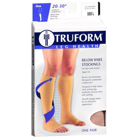 Truform Stocking, Below Knee Open Toe Style (Firm) 20-30mm L