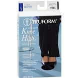 Truform Lites Women's Moderate Sheer Knee Highs Size L Large Black