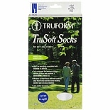 Truform TruSoft Crew Length Sock Mild (8-15 mm) Compression Large White