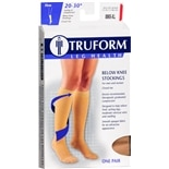 Truform Unisex Firm Closed Toe Below Knee Stockings XL Beige