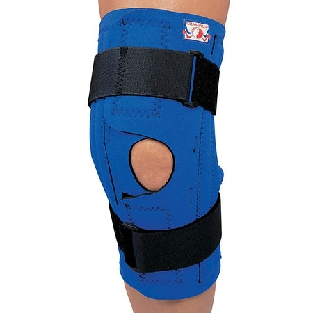 Champion Professional Neoprene Knee Stabilizer Wrap with Spiral Stays Blue - 1 ea.