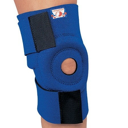 Champion Professional Neoprene Knee Wrap with Encircling Stabilizer Pad One Size