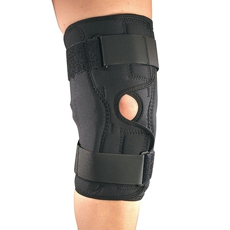OTC Professional Orthopaedic Orthotex Knee Stabilizer Wrap with Hinged Bars Black - 1 ea.