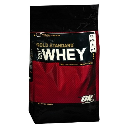 Optimum Nutrition 100% Whey Gold Standard Whey Protein Isolates Dietary Supplement Powder Chocolate