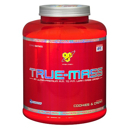True-Mass Mass Gainer Drink Mix Powder Cookies & Cream - 92 oz.