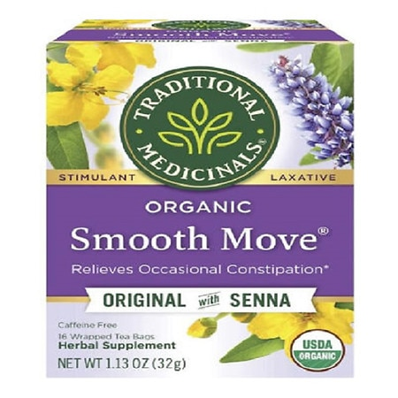 Traditional Medicinals Caffeine Free Organic Herbal Tea Smooth Move