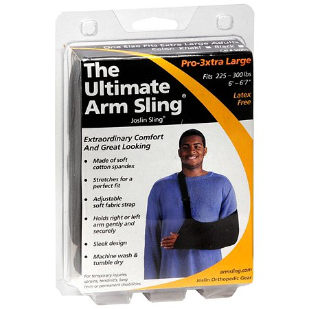 Joslin Orthopedic Gear The Ultimate Arm Sling Pro-3xtra Large Black