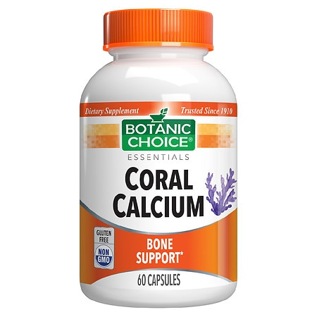 Botanic Choice Coral Calcium Dietary Supplement Capsules
