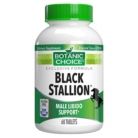 Botanic Choice Black Stallion Male Libido Herbal Supplement Tablets - 60 ea.