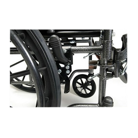Everest & Jennings Advantage Desk Wheelchair, Elevating Legrest 20 x 16 Black