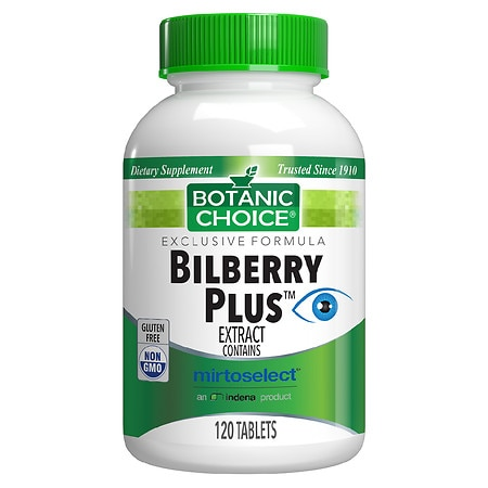 Botanic Choice Bilberry Plus Herbal Supplement Tablets