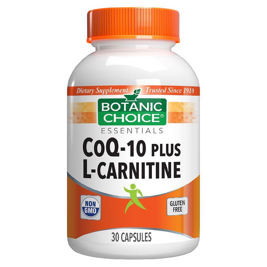 Botanic Choice CoQ10 Plus L Carnitine Dietary Supplement Capsules