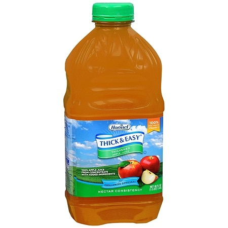 Hormel Thick & Easy Thickened Apple Juice Nectar Consistency 48 oz Bottles, 6 pk