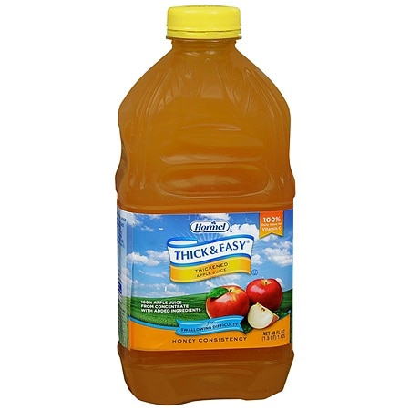 Hormel Thick & Easy Thickened Apple Juice Honey Consistency 48 oz Bottles, 6 pk