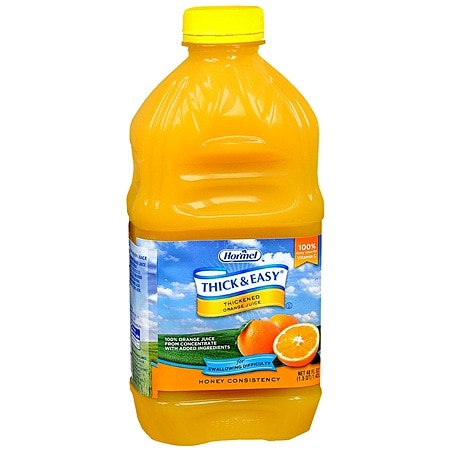 Hormel Thick & Easy Thickened Orange Juice Honey Consistency 48 oz Bottles, 6 pk