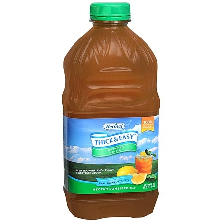 Hormel Thick & Easy Thickened Ice Tea Drink Nectar Consistency 48 oz Bottles, 6 pk