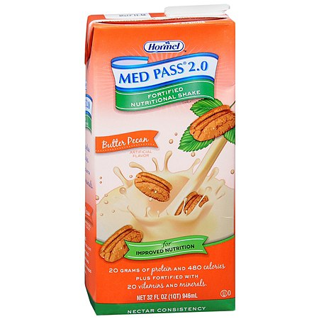 Hormel Med Pass 2.0 Fortified Nutritional Shake 32 oz Cartons, 12 pk