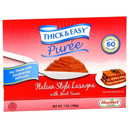 Hormel Thick & Easy Puree Italian Style Lasagna with Meat Sauce,7 pk