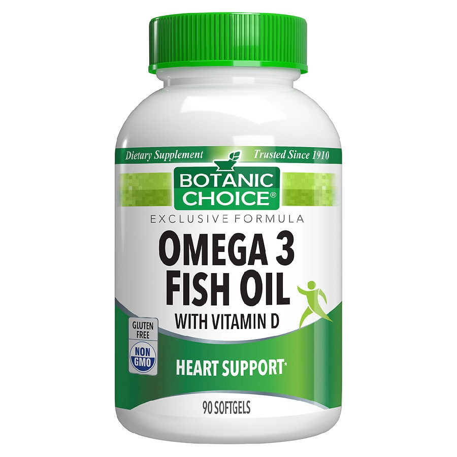 Botanic Choice Omega 3 Fish Oil with Vitamin D Dietary Supplement Softgels | Walgreens